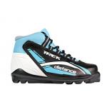 Лыжные ботинки TREK SNS DISTANCE (серо-бело-голубые)
