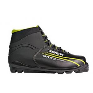Лыжные ботинки TREK SNS OMNI (чёрно-зелёные)