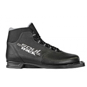 Лыжные ботинки TREK SOUL NN75 (цвет чёрно-серый)
