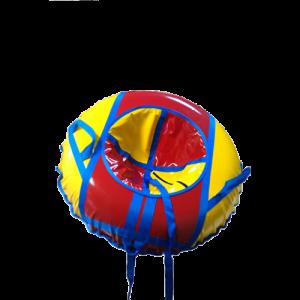 Санки-ватрушки 80 (жёлто-красные).